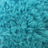 Curly Aqua Blue Faux Fur Fabric