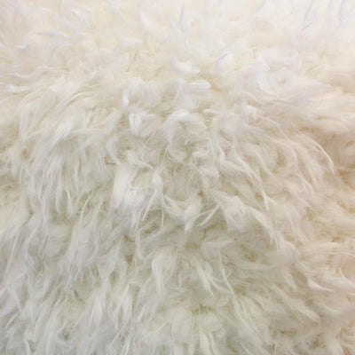 Curly Off-White Faux Fur Fabric