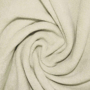 Ivory Anti Pill Solid Fleece Fabric