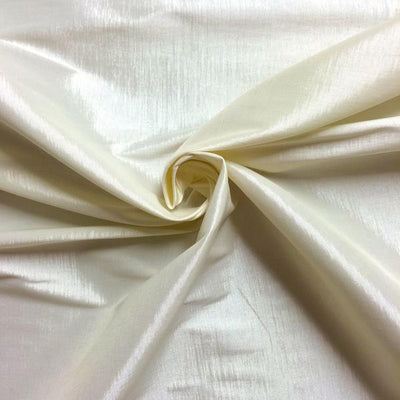 Ivory Stretch Taffeta Fabric