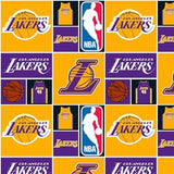 NBA Los Angeles Lakers 100% Cotton Print Fabric