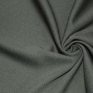Charcoal Solid Stretch Scuba Double Knit Fabric