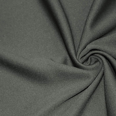 Charcoal Solid Stretch Scuba Double Knit Fabric / 50 Yards Roll