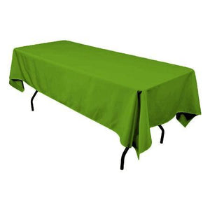"Lime 100% Polyester Rectangular Tablecloth 60"" x 126"""