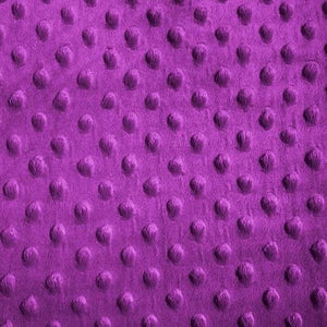 Magenta Minky Dimple Dot Fabric