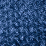 Navy Blue Minky Rosebud Fabric
