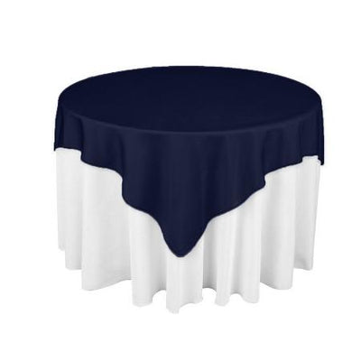 Navy Blue Square Overlay Tablecloth 60