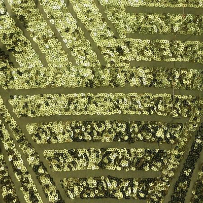 Olive Bombshell Stretch Sequin Fabric
