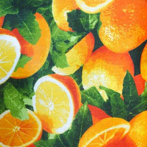 Orange Fruit Poly Cotton Fabric