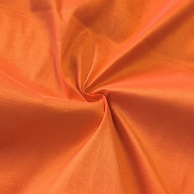 Orange Stretch Taffeta Fabric