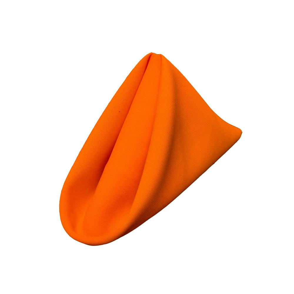 "(12 / Pack) Orange 18"" Polyester Napkin"