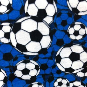 Overlapping Soccer Balls Anti Pill Print Fleece Fabric