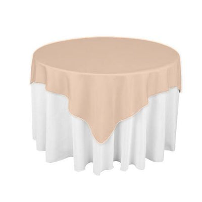 Peach Square Overlay Tablecloth 60