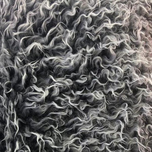 Black Java Frosted Mongolian Faux Fur Fabric