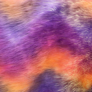 White Backing Faux Fur Wave Rainbow Fabrics