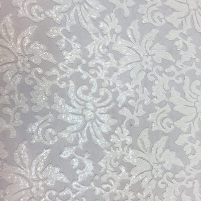 White Beyonce Lace Fabric - Evening Gown Lace
