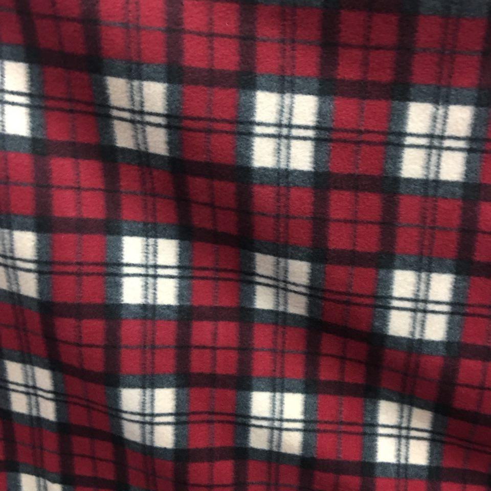 red white tartan plaid checkered anti pill plaid fleece fabric fabric bravo. Black Bedroom Furniture Sets. Home Design Ideas