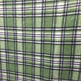 Green White Tartan Plaid Checkered Anti Pill Plaid Fleece Fabric