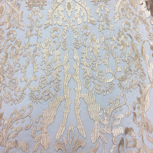 Champagne Vanity Flare Sheer Lace Dress Fabric