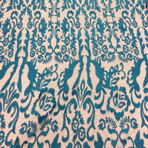 Teal Vanity Flare Sheer Lace Dress Fabric