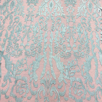 Mint Vanity Flare Sheer Lace Dress Fabric