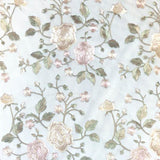 Ivory Gold Flower and Blossom pattern Lace