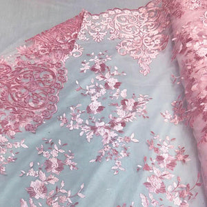 Coral Motif Lace Fabric