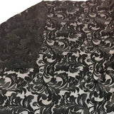 Black Damask Pattern Lace Fabric