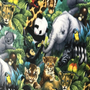 Jungle Animal Anti Pill Animal Theme Fleece Fabric