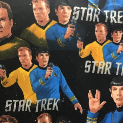 Star Trek on Black Anti Pill Fleece Fabric