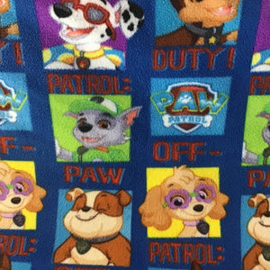 Paw Patrol Off-Duty on Blue Anti Pill Fleece Fabric