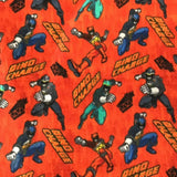 Power Rangers Dino Charge on Hot Orange Anti Pill Fleece Fabric
