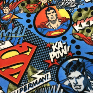 Superman Power Marvel Superhero Anti Pill Fleece Fabric