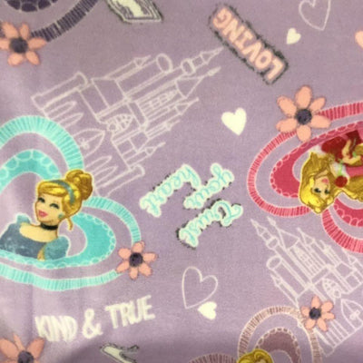 Princess Heart Love Disney Anti Pill Fleece Fabric