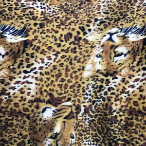 Leopard Face Sking Pattern Fleece Fabric
