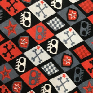 Skull and Bones Anti Pill Fleece Fabric