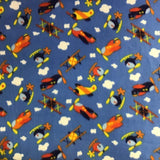 Airplane Chopper Helicopter  Theme Fleece Fabric