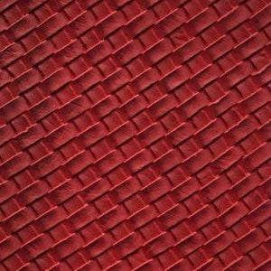 Red Basket Weave Upholstery Vinyl Fabric