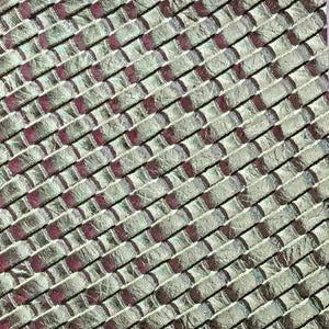 Silver Basket Weave Upholstery Vinyl Fabric