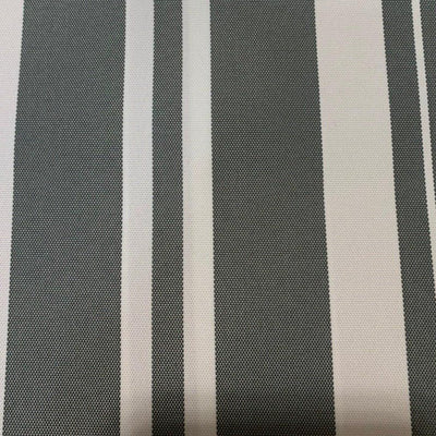 Gray Multi Stripe Canvas Waterproof Outdoor Fabric