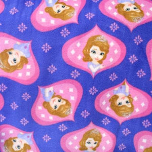 Little Princess Sofia in Lilac & Pink Anti Pill Fleece Fabric