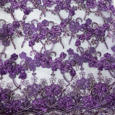 PURPLE Emperor's Lace Fabric
