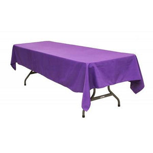 "Purple 100% Polyester Rectangular Tablecloth 60"" x 126"""