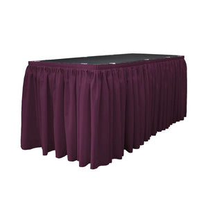 14 Ft. x 29 in. Eggplant Accordion Pleat Polyester Table Skirt