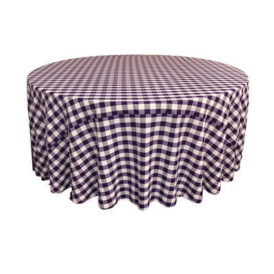 Purple Polyester Checkered Round 108