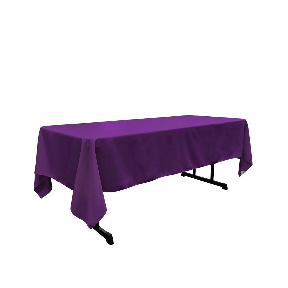 Purple 100% Polyester Rectangular Tablecloth 60 x 108""