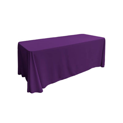 Purple 100% Polyester Rectangular Tablecloth 90