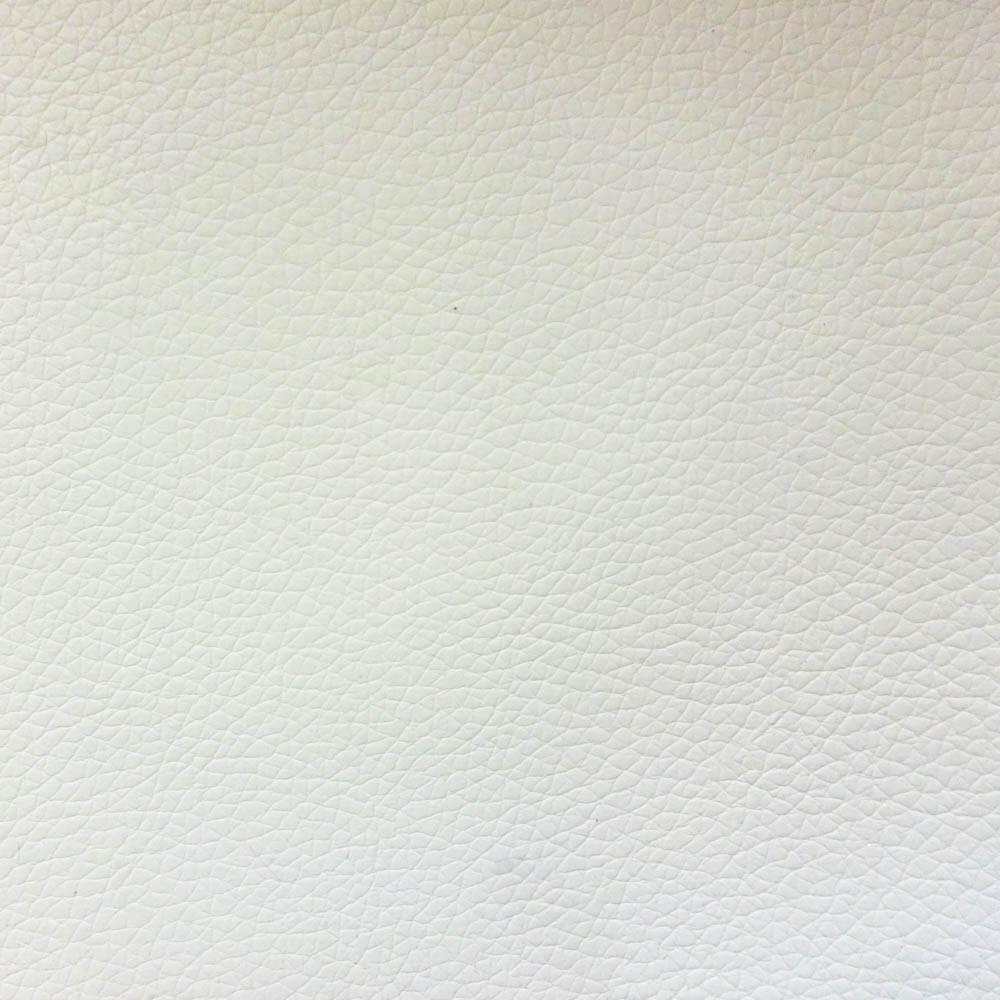 White 1.2 mm Thickness Soft PVC Faux Leather Vinyl Fabric