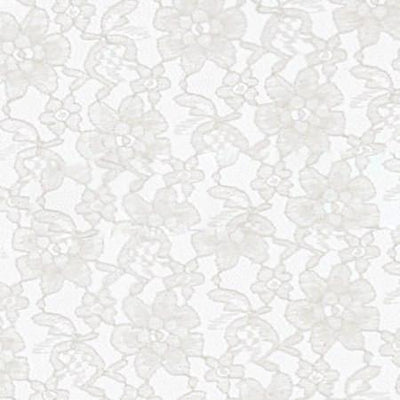 White Raschel Lace Fabric