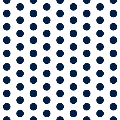 "1/4"" inches Navy on white Dots Poly Cotton Fabric"